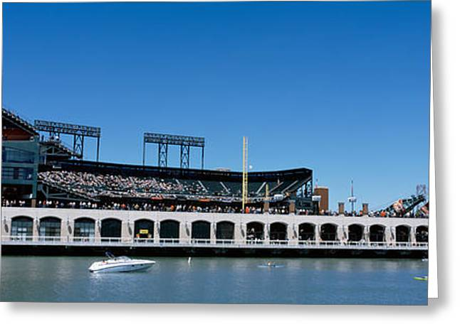 Speed Boat Greeting Cards - Usa, California, San Francisco, Sbc Greeting Card by Panoramic Images
