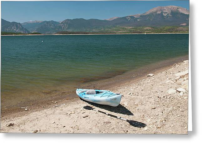 Usa, Co, Dillon Reservoir Greeting Card by Trish Drury