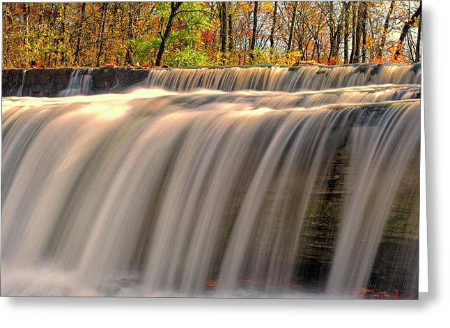 Usa, Indiana Cataract Falls State Greeting Card by Rona Schwarz