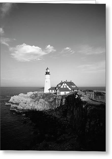 Usa, Maine, Portland, Cape Elizabeth Greeting Card by Walter Bibikow