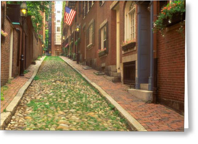 Boston Ma Greeting Cards - Usa, Massachusetts, Boston, Beacon Hill Greeting Card by Panoramic Images