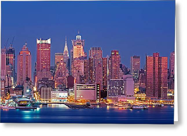 Usa, New York, New York City, West Greeting Card by Panoramic Images