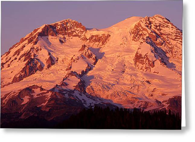 Magnificent Landscape Greeting Cards - Usa, Washington, Mount Rainier National Greeting Card by Panoramic Images