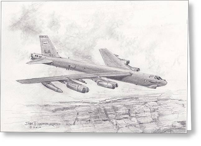 Jim Hubbard Greeting Cards - USAF B-52 Stratofortress  Greeting Card by Jim Hubbard
