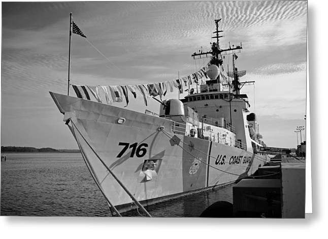 U.s. Coast Guard Greeting Cards - USCGC Dallas - Charleston South Caroline Greeting Card by Mountain Dreams