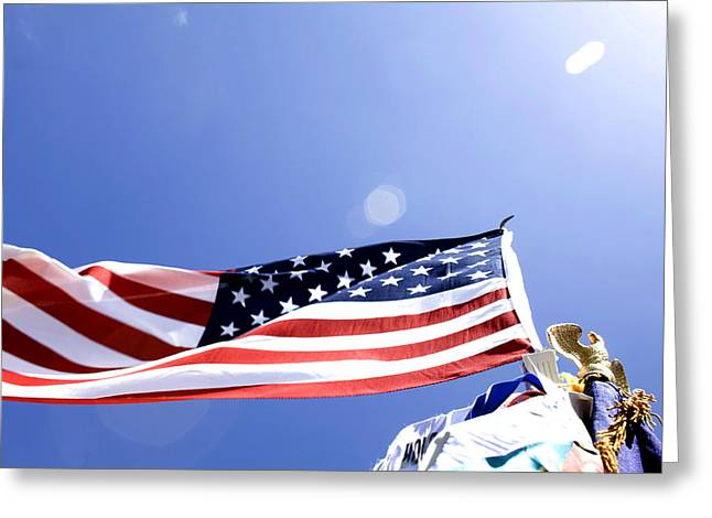 Terry Thomas Greeting Cards - U.S.Flag Greeting Card by Terry Thomas