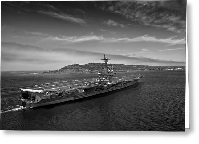 Carrier Greeting Cards - USS Carl Vinson Greeting Card by Mountain Dreams