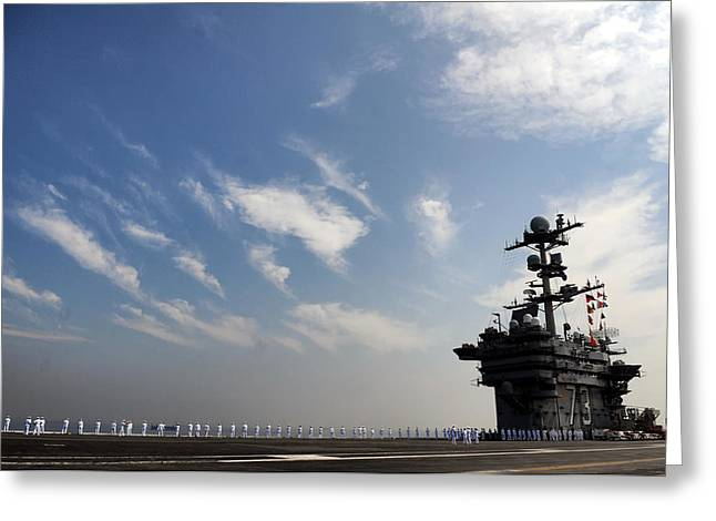 Naval Aircraft Greeting Cards - USS George Washington Greeting Card by Mountain Dreams