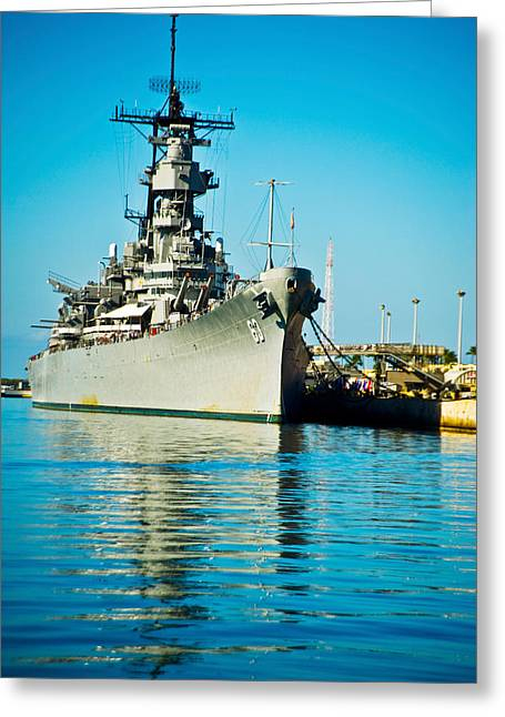 Missouri Photography Greeting Cards - Uss Missouri, Pearl Harbor, Honolulu Greeting Card by Panoramic Images