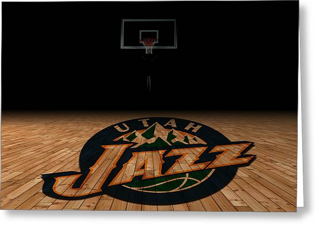 March Greeting Cards - Utah Jazz Greeting Card by Joe Hamilton