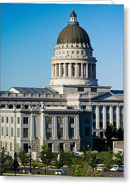 Capitol Hill Greeting Cards - Utah State Capitol Building, Salt Lake Greeting Card by Panoramic Images