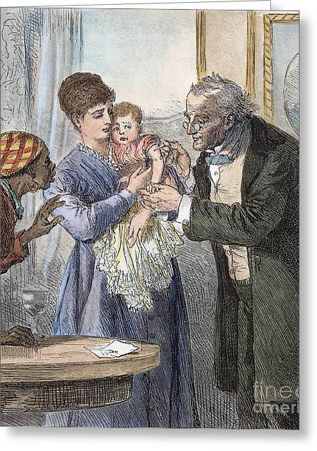 Vaccination Greeting Cards - Vaccination, 1870 Greeting Card by Granger