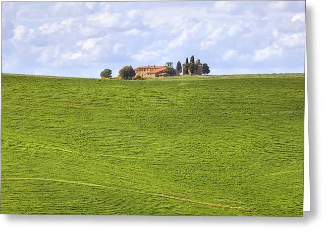 Pienza Greeting Cards - Val dOrcia Greeting Card by Joana Kruse