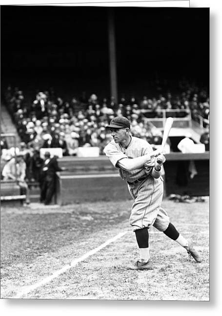 Baseball Game Greeting Cards - Valentine J. Val Picinich Greeting Card by Retro Images Archive