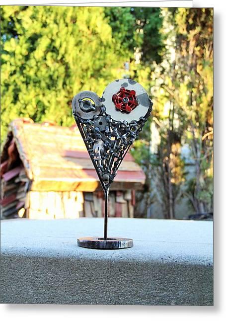 Valentine Sculptures Greeting Cards - Valentine Greeting Card by Jacob Diehl