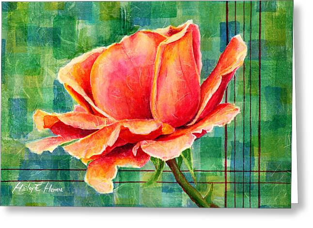 Roses Greeting Cards - Valentine Rose Greeting Card by Hailey E Herrera
