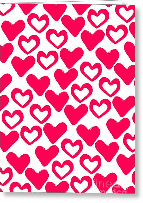 Contemporary Art Paintings Greeting Cards - Valentines Day Card Greeting Card by Louisa Knight