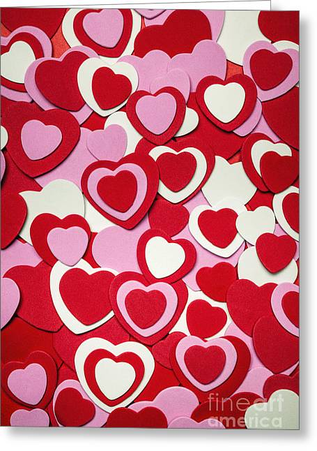 Background Greeting Cards - Valentines day hearts Greeting Card by Elena Elisseeva