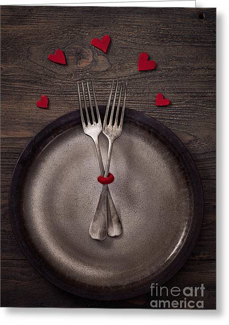 Banquet Greeting Cards - Valentines dinner Greeting Card by Mythja  Photography