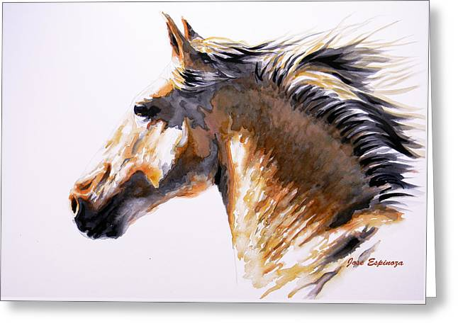 Horse Art Pastels Greeting Cards - Rebel Greeting Card by Jose Espinoza