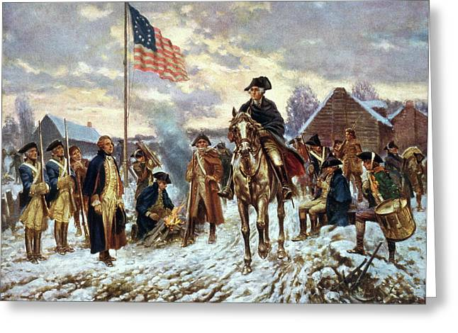 Valley Forge, 1777 Greeting Card by Granger