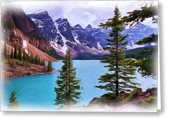 Snow Capped Greeting Cards - Valley of the Ten Peaks Greeting Card by Allen Beatty