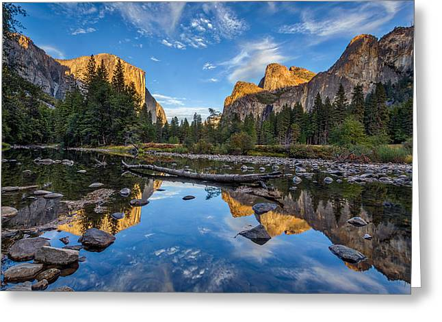 Merced River Greeting Cards - Valley View II Greeting Card by Peter Tellone
