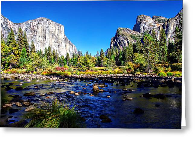 Valley View Yosemite National Park Greeting Card by Scott McGuire