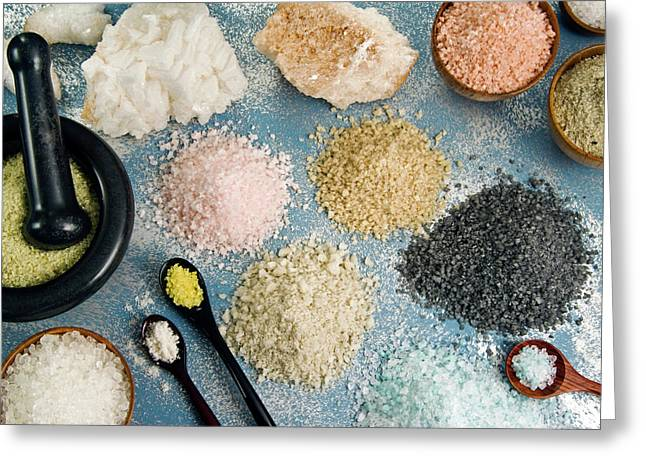 Various Types Of Salt Greeting Card by Nico Tondini