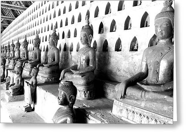 Vat Si Saket, Vientiane, Laos Greeting Card by Panoramic Images