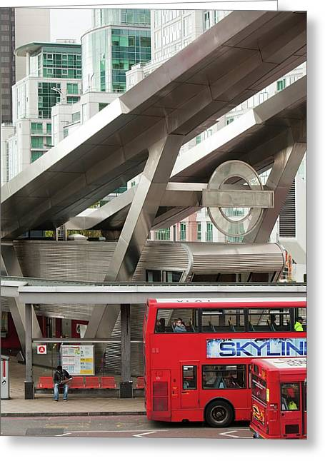 Vauxhall Bus Station Greeting Card by Ashley Cooper