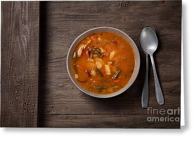 Stew Greeting Cards - Vegetable stew Greeting Card by Mythja  Photography