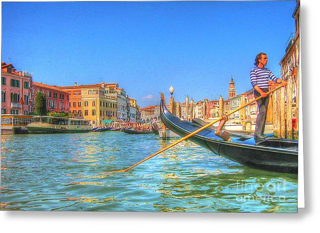 People Pyrography Greeting Cards - Venec Greeting Card by Yury Bashkin