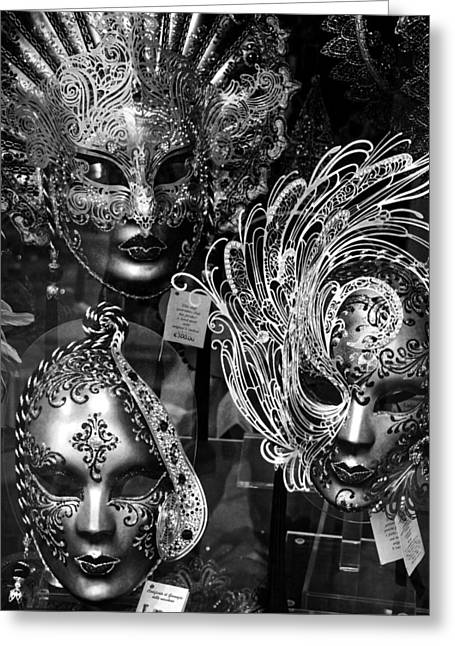 Venetian Carnival Masks Greeting Card by Tom Bell
