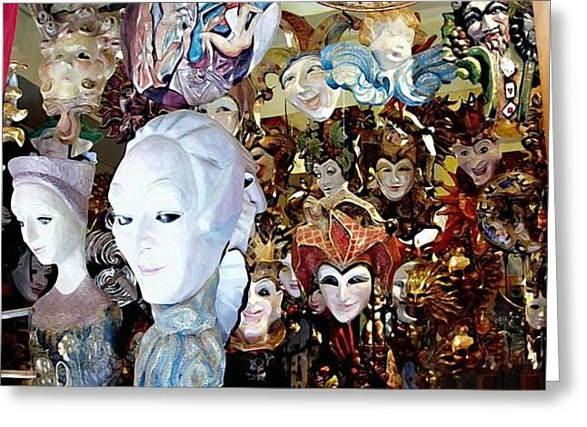 Venetian Masks 2 Greeting Card by Ellen Henneke