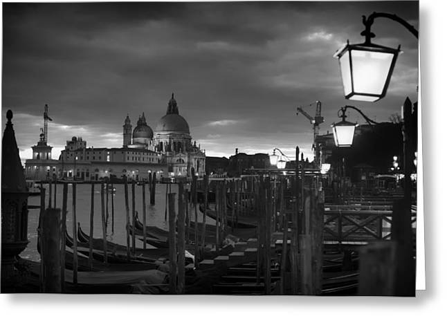 Gondolier Greeting Cards - Venice at Dusk Greeting Card by Mountain Dreams