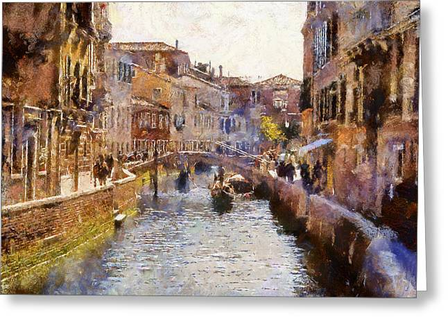 Venice Tour Greeting Cards - Venice Canals 2 Greeting Card by Yury Malkov