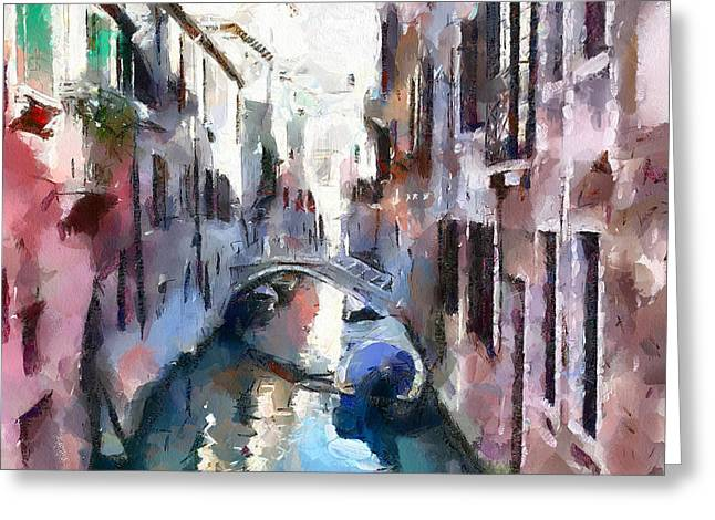 Venice Tour Greeting Cards - Venice Canals 5 Greeting Card by Yury Malkov