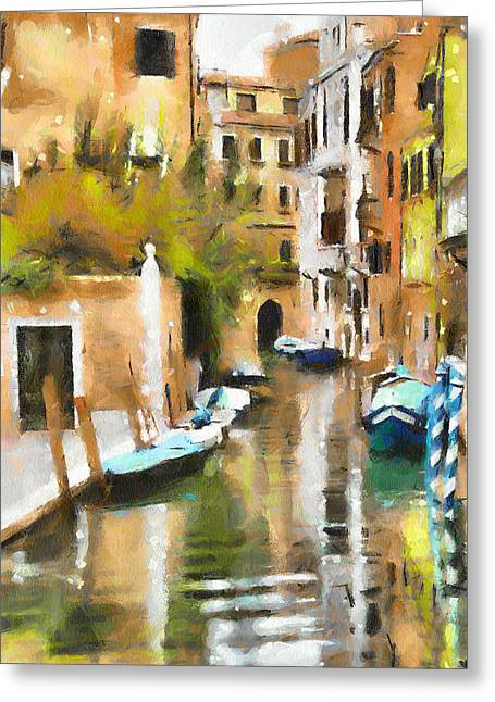 Old Town Digital Art Greeting Cards - Venice Canals 7 Greeting Card by Yury Malkov