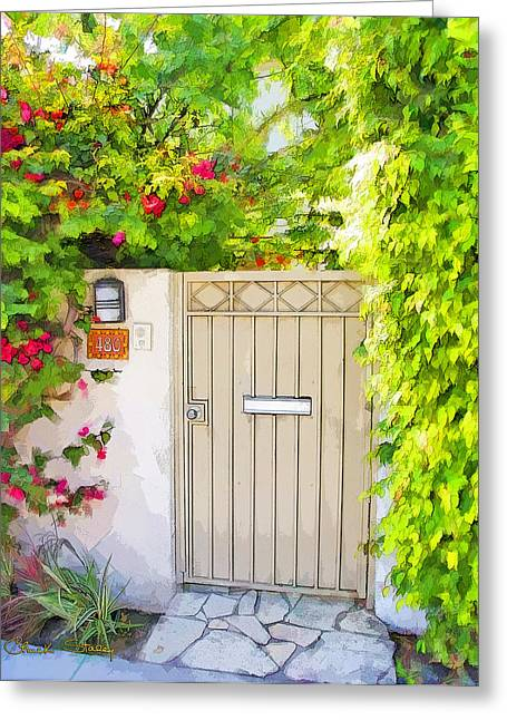 California Art Greeting Cards - Venice Gate Greeting Card by Chuck Staley