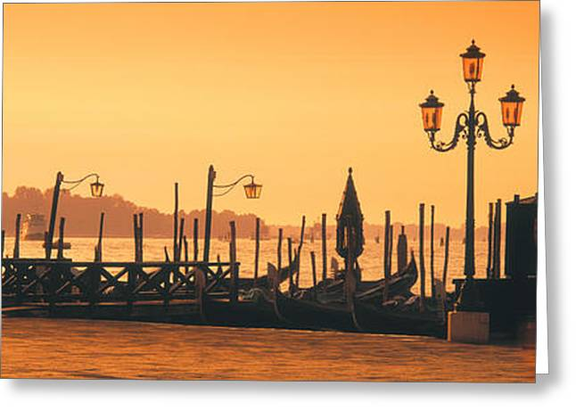 Colorful Photography Greeting Cards - Venice, Italy Greeting Card by Panoramic Images