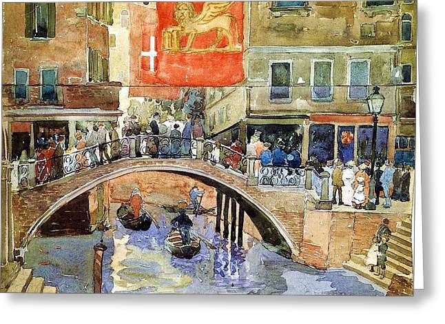 Venice Greeting Card by Pg Reproductions