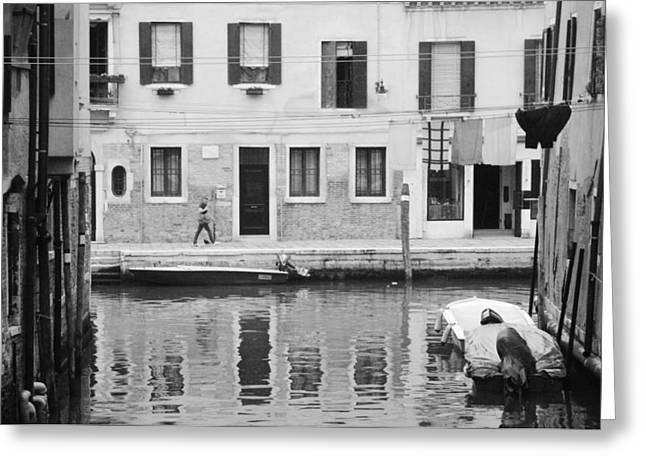 Venice Pyrography Greeting Cards - Venice Greeting Card by Ran Ezra