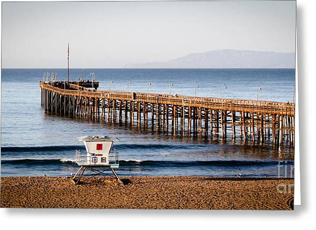Santa Cruz Pier Greeting Cards - Ventura Pier Greeting Card by Henrik Lehnerer