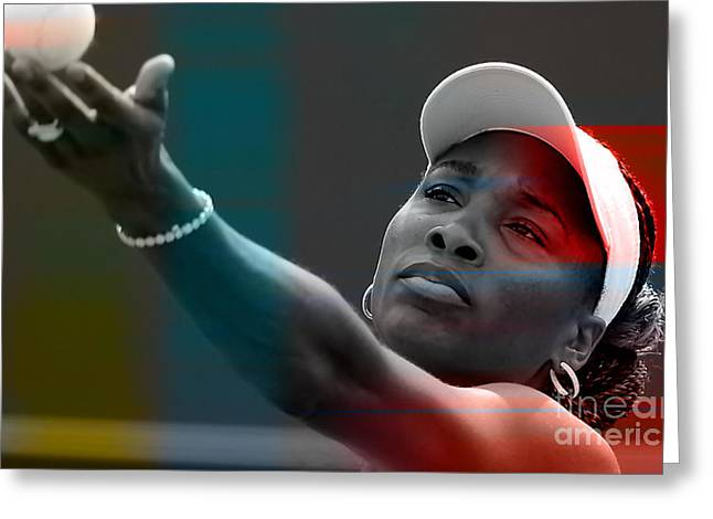 Venus Williams Greeting Card by Marvin Blaine