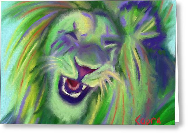 King Of Judah Greeting Cards - Vermont Lion Greeting Card by Nancy Capra
