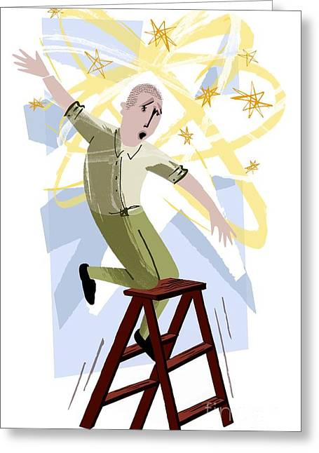 Psychiatric Greeting Cards - Vertigo, Conceptual Artwork Greeting Card by Paul Brown