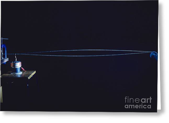 Amplitude Greeting Cards - Vibrating String Greeting Card by Andrew Lambert Photography