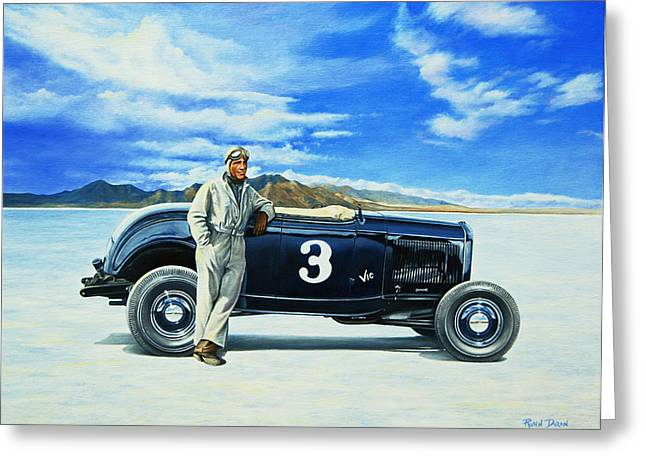 Vic Edelbrock #2 Greeting Card by Ruben Duran