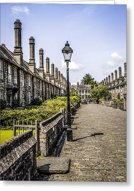 Localities Greeting Cards - Vicars Close Wells Greeting Card by Chris Smith